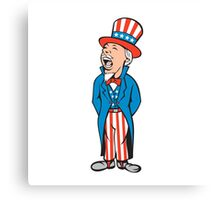 Uncle Sam American Shouting Cartoon Canvas Print