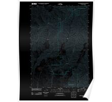 USGS Topo Map Oregon Clear Lake Ridge 20110627 TM Inverted Poster