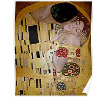 'The Kiss' - A tribute to Klimt Poster
