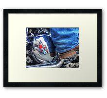 Denim, Boots & Chrome Framed Print
