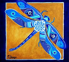 Celtic Dragonfly by Janette  Dengo
