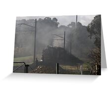 Excursion Train leaving Ellendale Rd 20150830 0216   Greeting Card