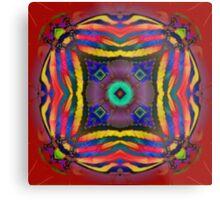 Nature Fractal Mandala Metal Print