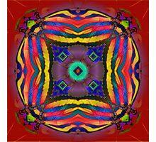 Nature Fractal Mandala Photographic Print