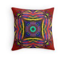 Nature Fractal Mandala Throw Pillow