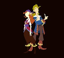 Elaine & Guybrush by RobsteinOne