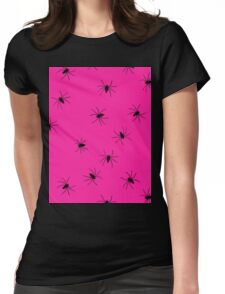 hot pink spider Womens Fitted T-Shirt