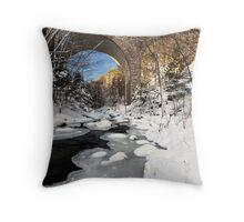 STONE BRIDGES OF ACADIA Throw Pillow