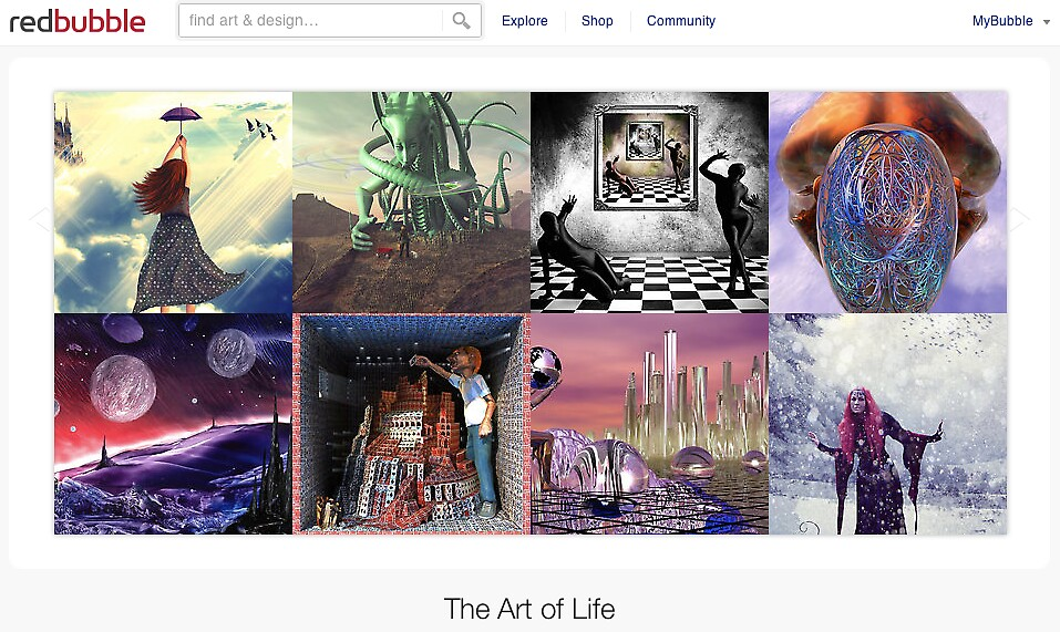 Parallel Dimensions - 5 January 2011 by The RedBubble Homepage