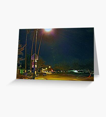 THE STREET LIGHT Greeting Card