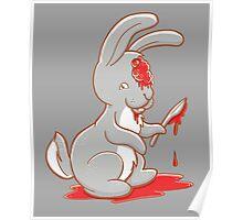 Creepy cute bunny zombie Poster