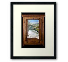 'Through the Wardrobe' - Fantasy, trompe l'oeil style Framed Print