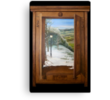 'Through the Wardrobe' - Fantasy, trompe l'oeil style Canvas Print