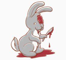 Creepy cute bunny zombie Kids Tee