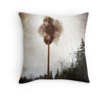 Cattail explosion Throw Pillow