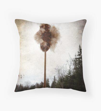 Cattail explosion Throw Pillow