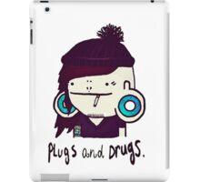 plugs and drugs iPad Case/Skin