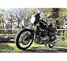 Parked Motorcycle (Original) Photographic Print