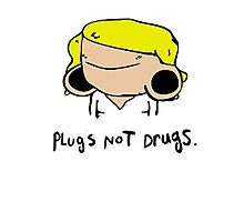 plugs not drugs (female)' Photographic Print