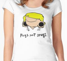 plugs not drugs (female)' Women's Fitted Scoop T-Shirt