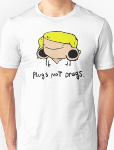 plugs not drugs (female)' Unisex T-Shirt