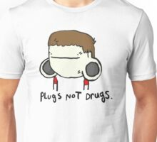 plugs not drugs (male) Unisex T-Shirt