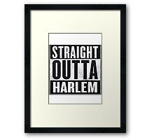 straight out of harlem Framed Print