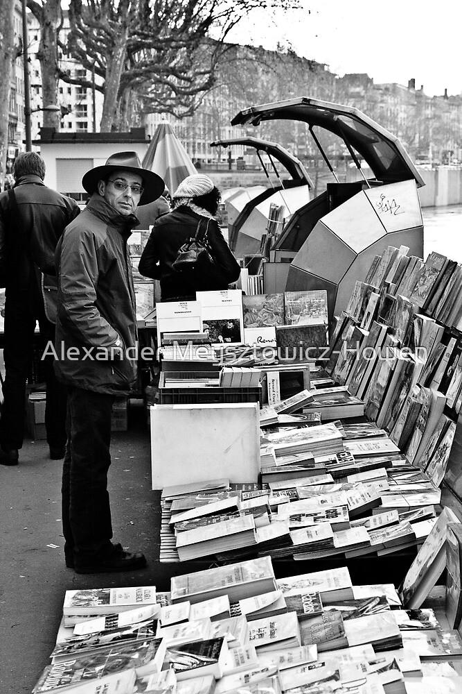 Book sellers on the Rhone by Alexander Meysztowicz-Howen