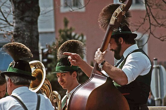 Music Man - Berchtesgaden Germany  -1985 by David J Dionne
