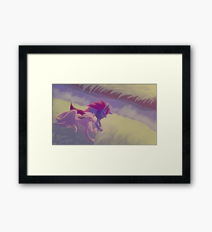 falling in love at a nothing shop Framed Print