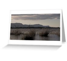 Sunset over Lake Fyans Greeting Card