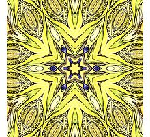 yellow mandala Photographic Print