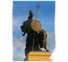 Statue of Britannia in Plymouth, Devon, UK Poster