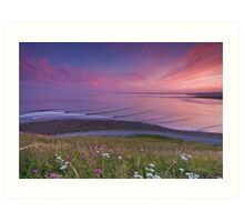 Sunset Surf at Lawrencetown Beach Art Print