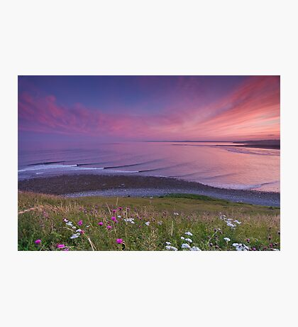 Sunset Surf at Lawrencetown Beach Photographic Print