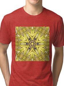 yellow mandala Tri-blend T-Shirt