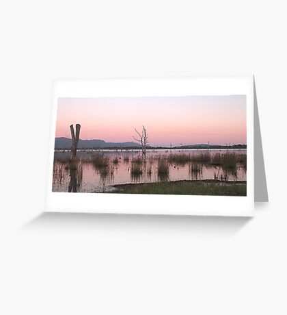 Sunrise at Lake Fyans Greeting Card