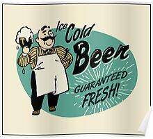 Vintage Beer Sign Poster