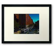 New York Street Scene Framed Print