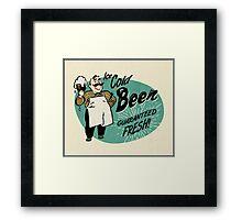 Vintage Beer Sign Framed Print