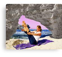 Yoga by the sea Canvas Print