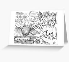 Engraved Hands Greeting Card