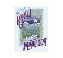 Bon Iver Lyric Art Art Print