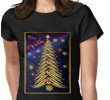 Seasons Greetings Soft Tree Poster Womens Fitted T-Shirt