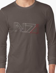 N7 in 3D Long Sleeve T-Shirt