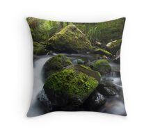 Nikau Stream Throw Pillow