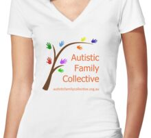 Autistic Family Collective Women's Fitted V-Neck T-Shirt