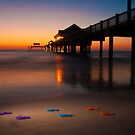 """Small Steps"" - flip flops on Clearwater Beach, Florida by John Hartung"
