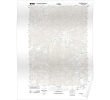 USGS Topo Map Oregon Twin Sisters 20110824 TM Poster