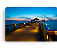 """""""Peer To Forever"""" - Pier 60 on Clearwater Beach Florida Canvas Print"""